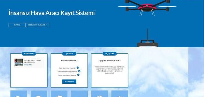 SHGM Drone Kayıt Ekranı Açıldı