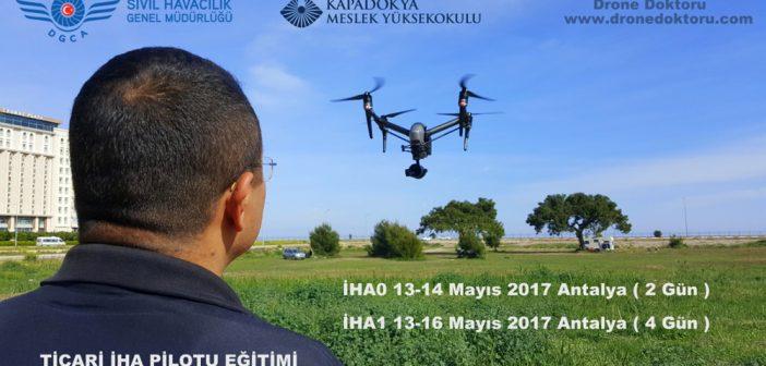 Drone Doktoru Antalya İHA0 ve İHA1 ticari drone pilot eğitimi organizasyonu