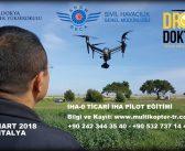İHA0 TİCARİ DRONE PİLOTU EĞİTİMİ 9-10 MART 2018 KAYIT