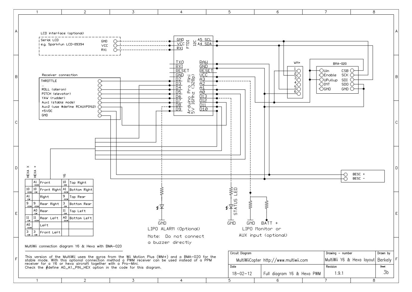 3B Full connection diagram Y6 & Hexa PPM